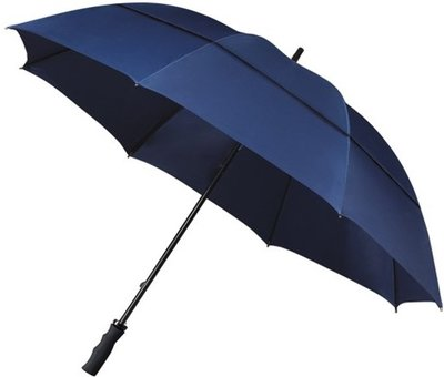 Falcone windproof eco golfparaplu donkerblauw