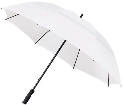 Falcone windproof eco golfparaplu wit