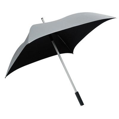 Falcone All Square vierkante paraplu zilvergrijs