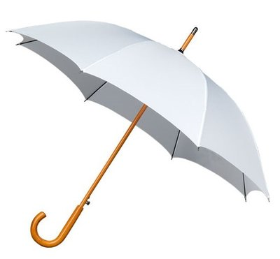 Falcone Deluxe windproof paraplu wit