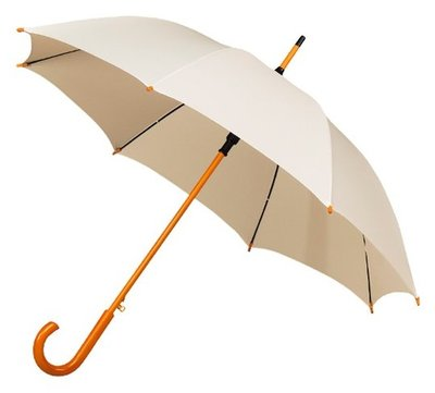 Falcone Deluxe paraplu gebroken wit