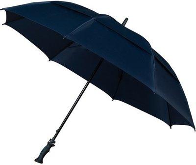 Falcone Storm windproof golfparaplu donkerblauw