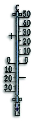 TFA Metal Black analoge thermometer
