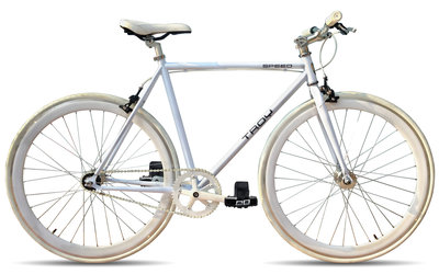 Troy Speed white 54 cm fixed gear bike