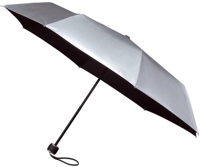 miniMAX windproof opvouwbare paraplu zilver