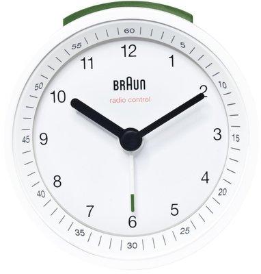 Braun BNC007 wit 8 cm radiogestuurde wekker