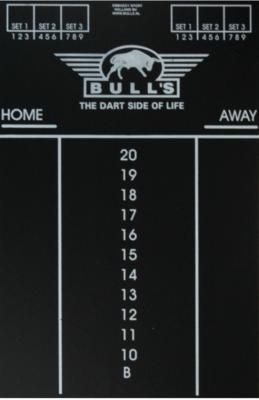 Bull's Large krijtbord scorebord