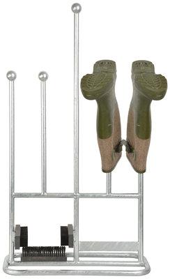Esschert Design Laarzenrek, borstel en schraper in één