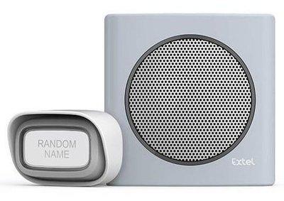 Extel diBi Flash soft grey draadloze deurbel