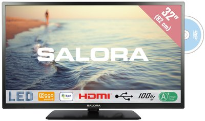 Salora LED 5000 serie 32 inch tv + dvd