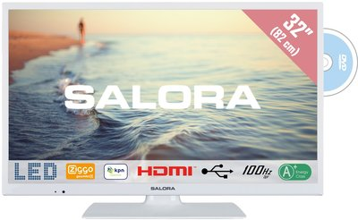 Salora LED 5000 serie 32 inch tv + dvd wit