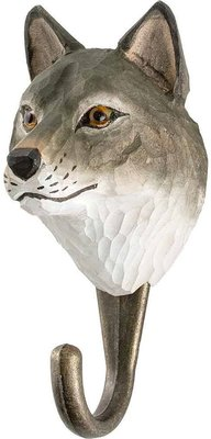Wildlife Garden Kapstok Wolf uit hout