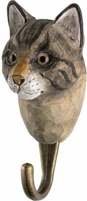 Wildlife Garden Kapstok Kat uit hout