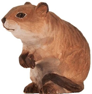 Wildlife Garden Veldmuis uit hout