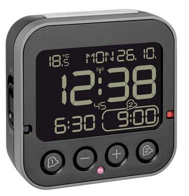 TFA Bingo 2.0 zwart 9 cm radiogestuurde wekker