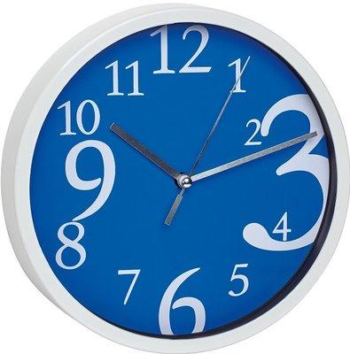 TFA Dancing Digits blauwe wijzerplaat 20 cm klok