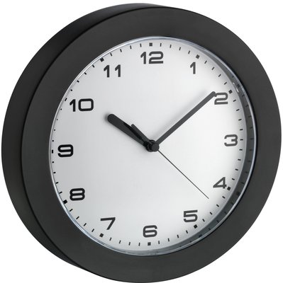 TFA Black Ring 22.8 cm klok