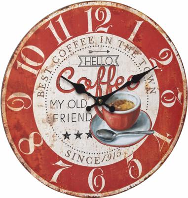 TFA Vintage Coffee 33.7 cm klok