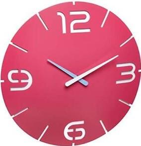 TFA Contour roze 35 cm klok