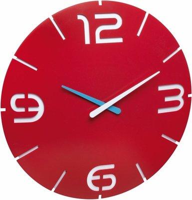 TFA Contour rood 35 cm klok