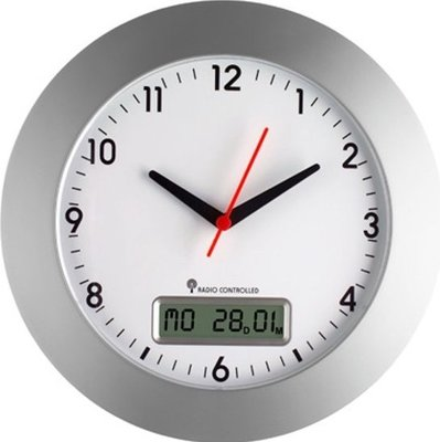 TFA Digital Date Radio Controlled 30 cm klok