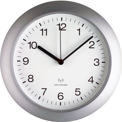 TFA Silver Timer Radio Controlled 26 cm klok