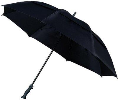 Falcone Storm windproof golfparaplu zwart