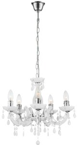 Globo Cuimbra five chandeliers white kroonluchter
