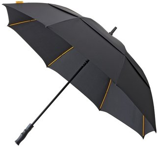 Falcone Robuust windproof golfparaplu zwart