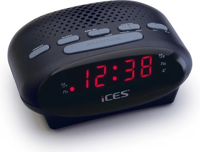 Ices ICR-210 zwart wekkerradio