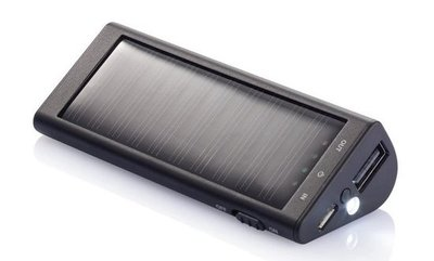 Loooqs Solar 2200 mAh zwart powerbank