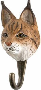 Wildlife Garden Kapstok Lynx uit hout
